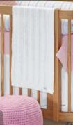 Manta de Bebê Tricot Cor Branca