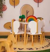 Mesa com 4 cadeirinhas Infantil Brinquedoteca - Hora de Brincar