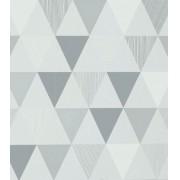Papel de Parede Algodão Doce Triângulos Cinza