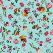 Papel de Parede Brincar Floral Azul