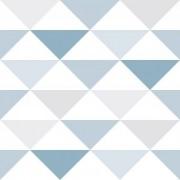 Papel de Parede Brincar Triangulo Geométrico Azul