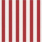 Papel de Parede Listrado Vermelho e Branco
