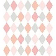 Papel de parede Renascer losango Rosa e Azul