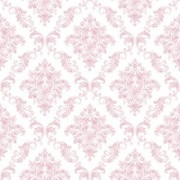 Papel de parede Renascer Damask Rosa