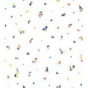 Papel de Parede Brincar Tetris Laranja