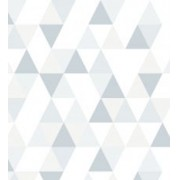 Papel de Parede Triângulo Branco,Cinza e Cinza Claro