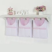 Porta Fraldas/ Objetos para Varão 3 peças Coleção Bless Rosa