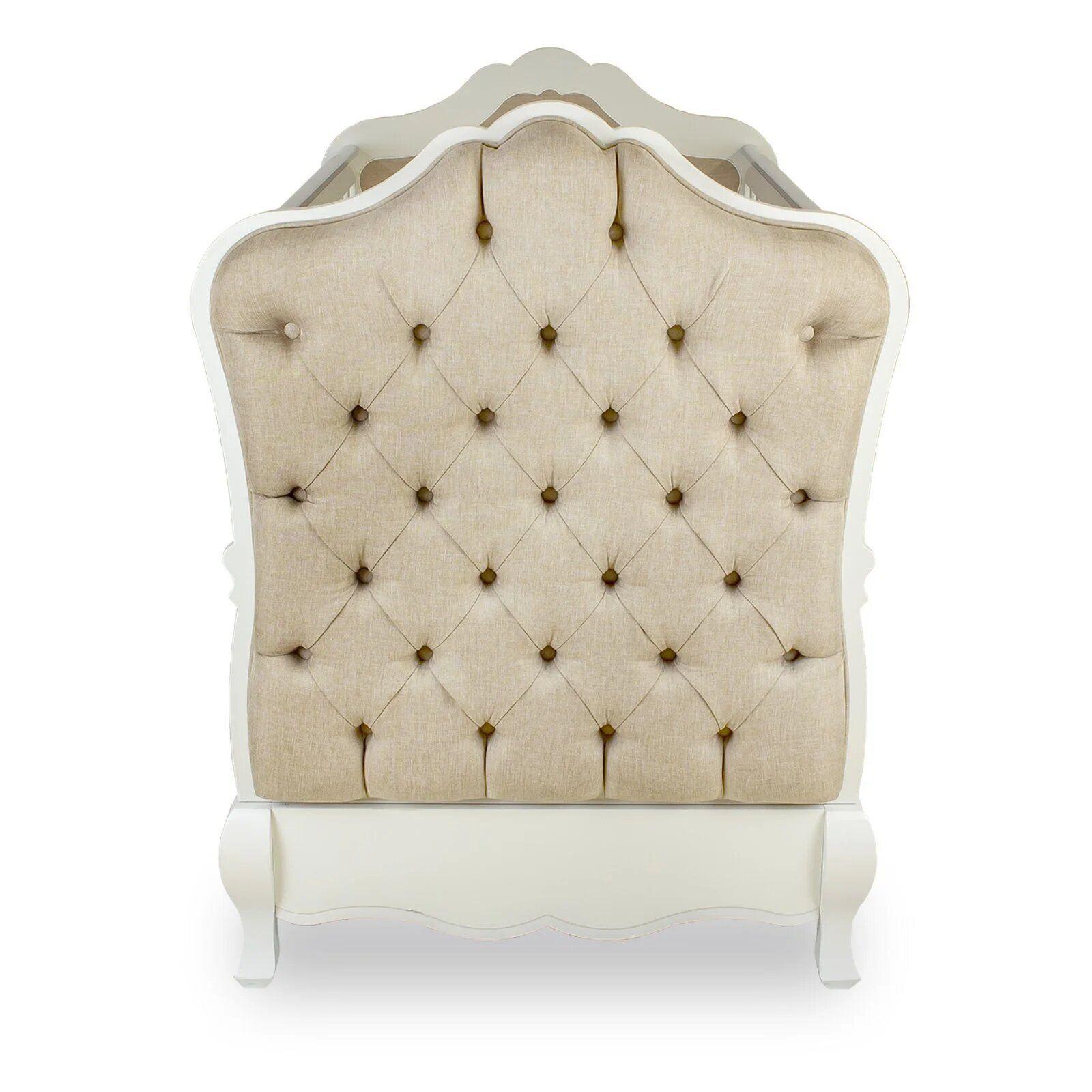 Berço Mini Cama Clássico - coleção Imperial branco
