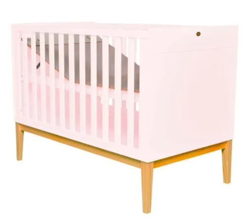 Berço Mini Cama retrô - Coleção Amor Perfeito Rosê