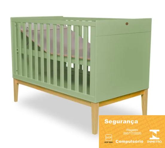 Berço Mini Cama retrô - Coleção Amor Perfeito Verde