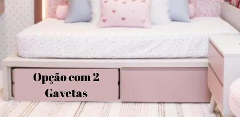 Cama Kids II  com 2 Gavetas| 2 Peças (Personalize as cores)
