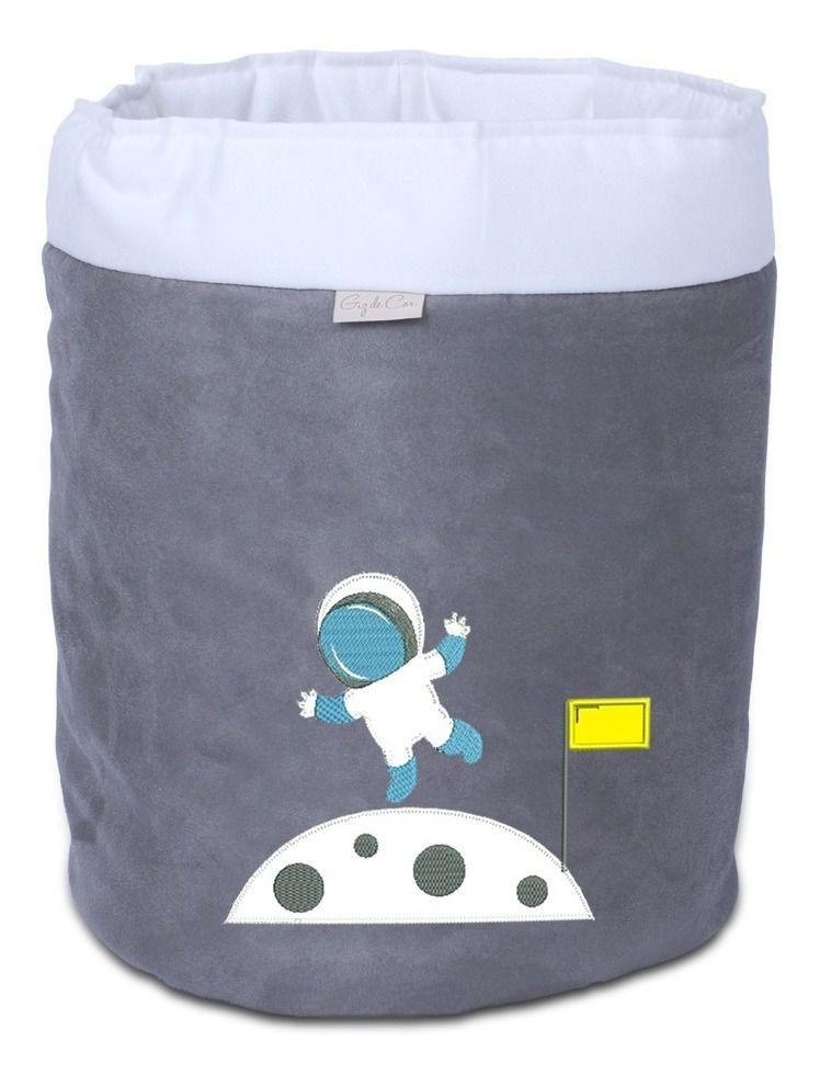Cesto Organizador em Suede Astronauta