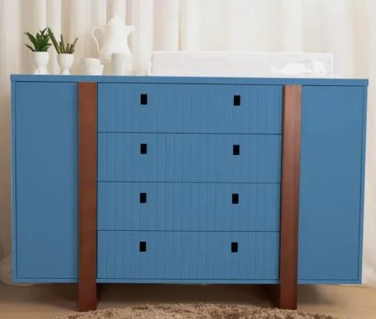 Cômoda 2 portas Coleção Dominó Azul