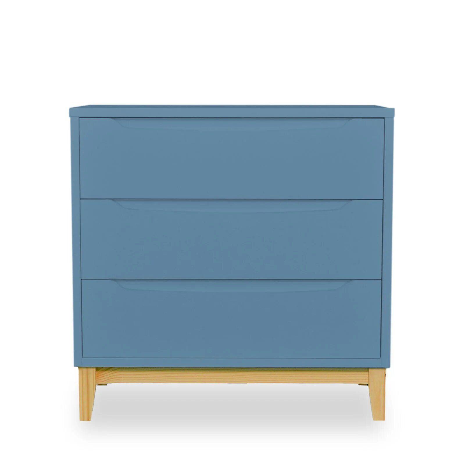 Cômoda Infantil 3 gavetas - coleção Amor Perfeito azul