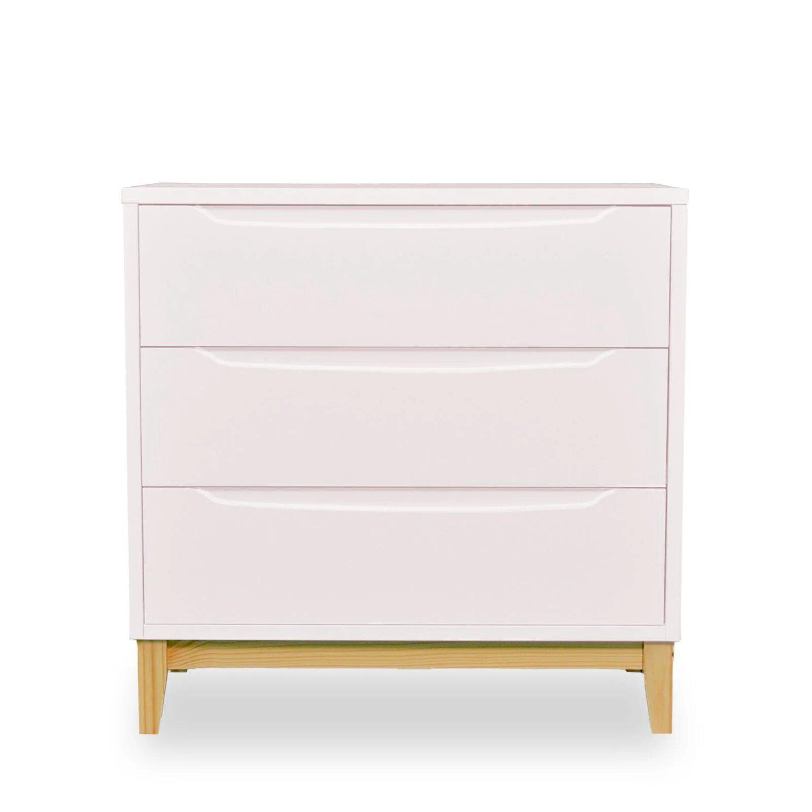 Cômoda Infantil 3 gavetas - coleção Amor Perfeito rosê
