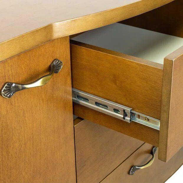 Cômoda Infantil Clássica 3 gavetas e 2 portas - coleção Isabel Mel