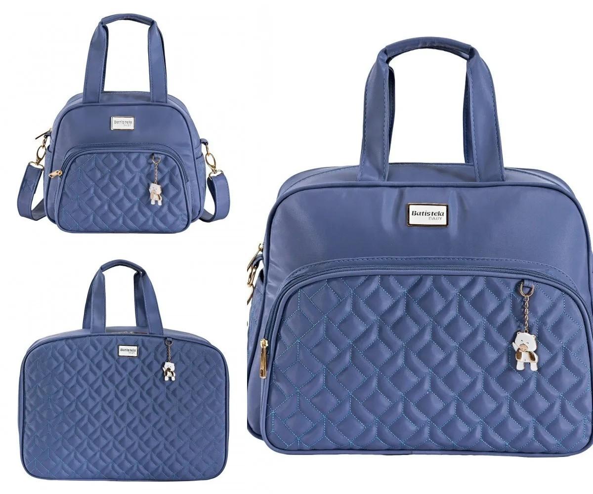 Conjunto Bolsa Maternidade Cambridge Azul