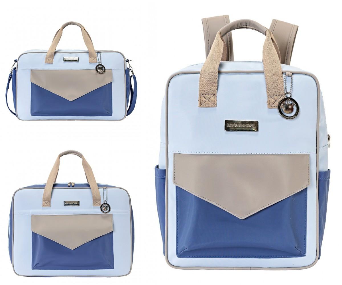 Conjunto Bolsa Maternidade com Mochila Color Fun Azul
