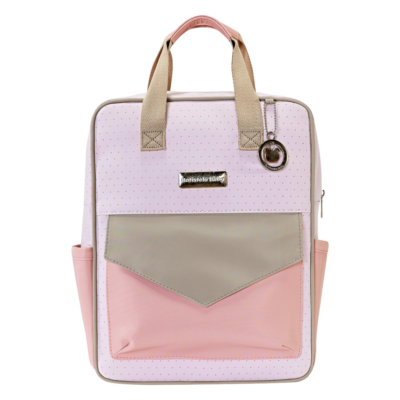 Conjunto Bolsa Maternidade com Mochila Color Fun Rosa