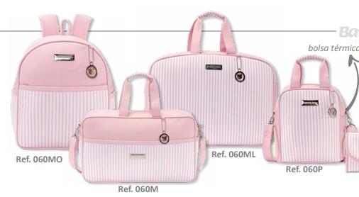 Conjunto de Bolsa Maternidade Coleção Roma Rosa