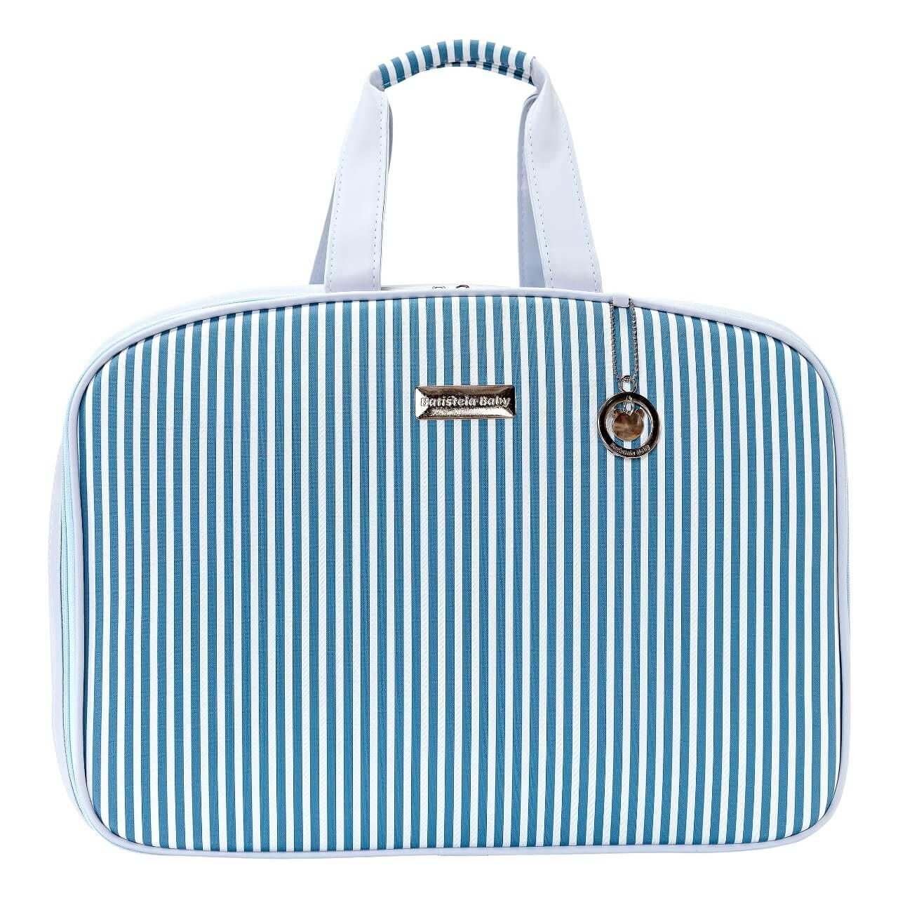 Conjunto de Bolsa Maternidade com Mochila Coleção Roma Azul