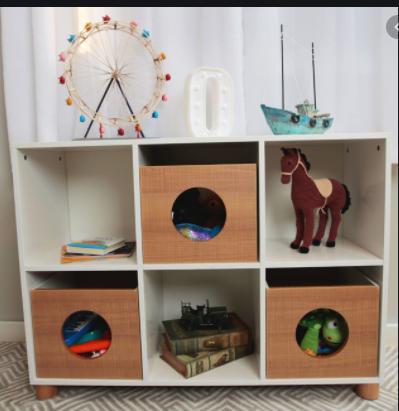 Estante Infantil para brinquedos - coleção Casinha