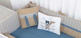 Kit de Berço 10 peças Coleção Aviador