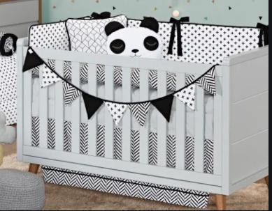 Kit de Berço 10 peças Coleção Panda