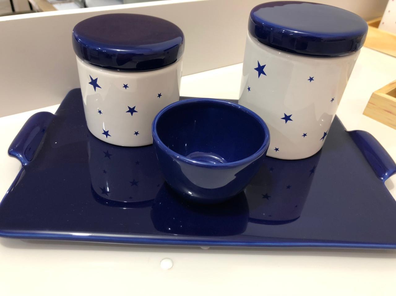Kit Higiene 4 peças Coleção  Estrela Marinho