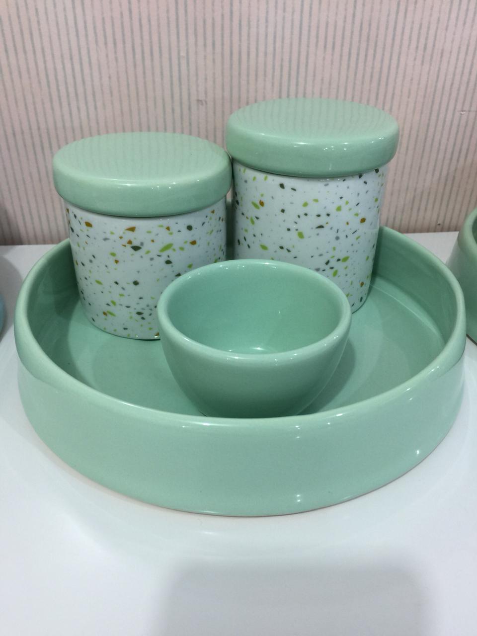 Kit Higiene 4 peças Coleção Granilite Verde