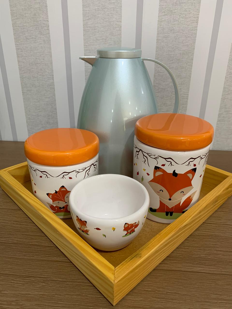 Kit Higiene 4 peças Coleção Raposa