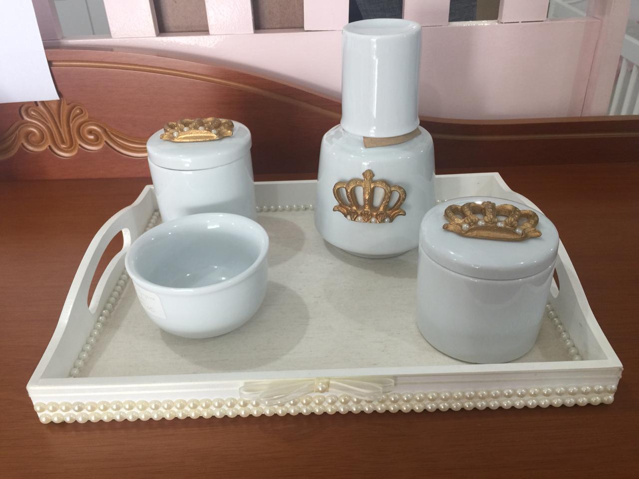 Kit Higiene 5 peças Coleção Coroa Imperial