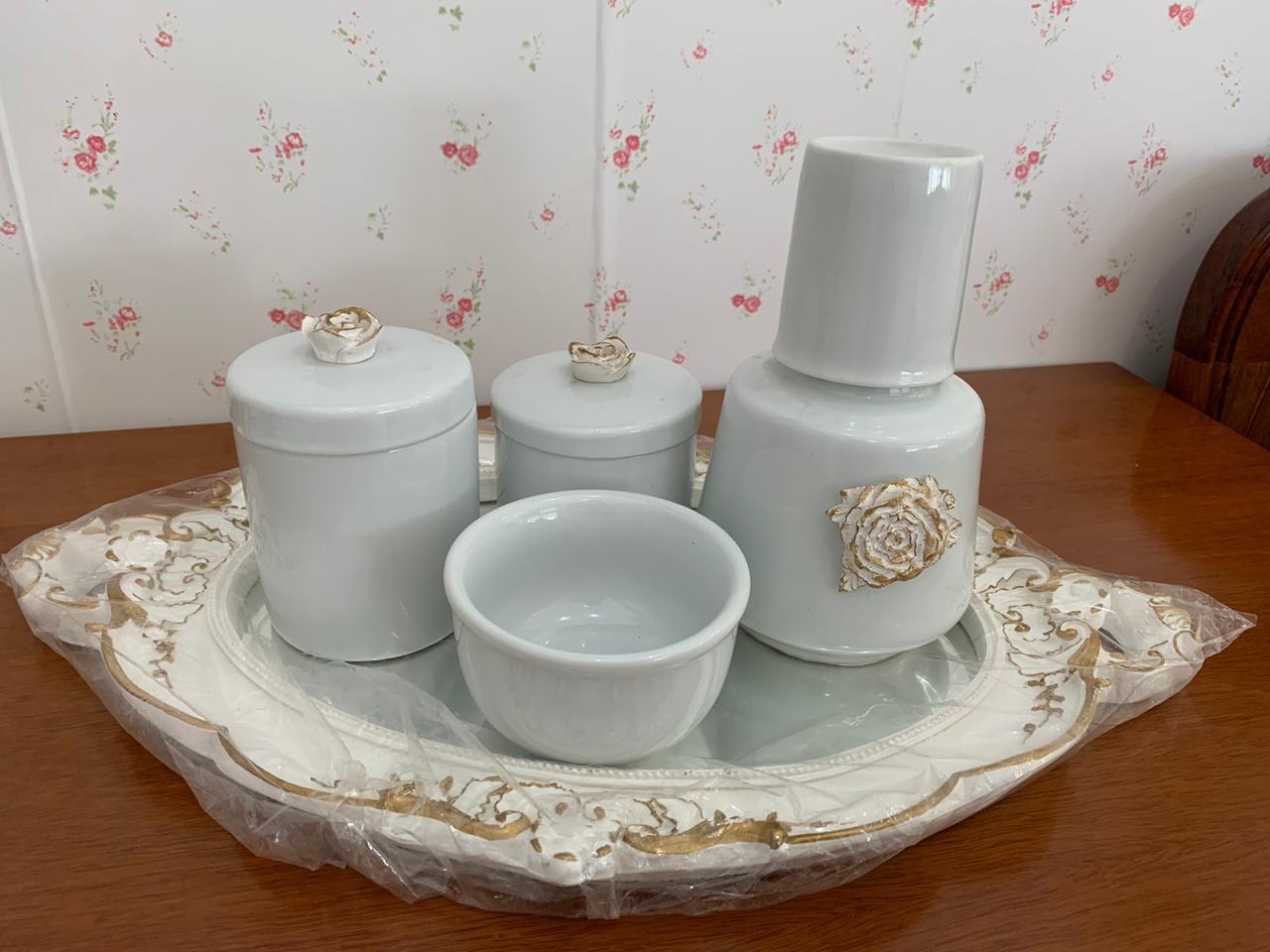 Kit Higiene 5 peças Coleção Flor Imperial