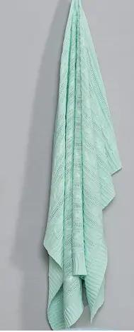 Manta de Bebê Tricot Cor Verde