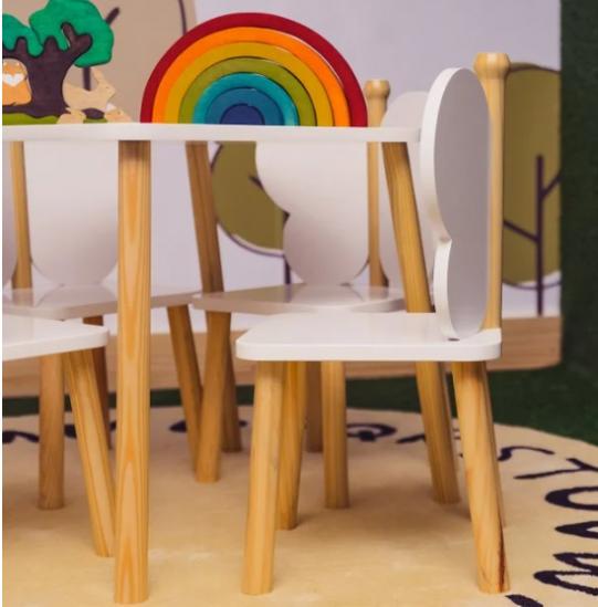 Mesa com 2 cadeirinhas Infantil Brinquedoteca - Hora de Brincar