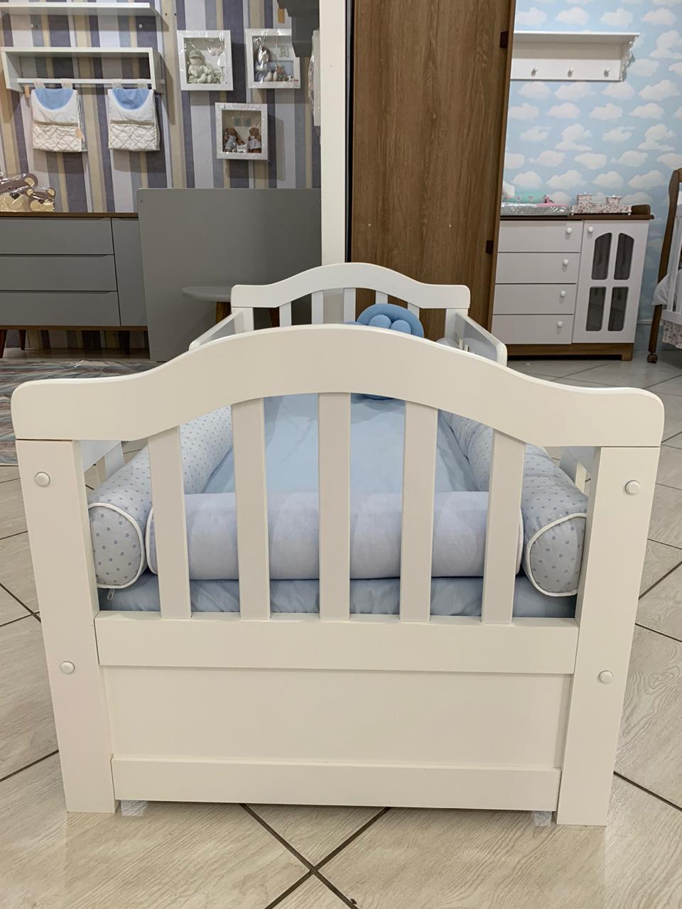 Mini Cama Florença Branco Fosco