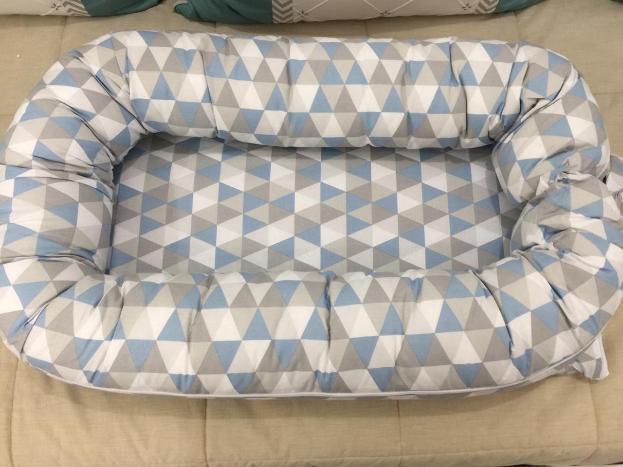 Ninho Redutor Geométrico Triângulo Azul e Cinza