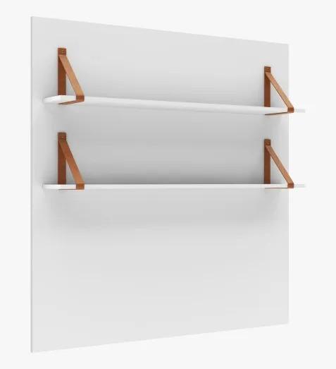 Painel Maior com 2 Prateleiras 118cm Branco Fosco