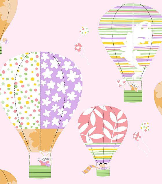 Papel de Parede Algodão Doce Balão Rosa