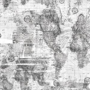 Papel de Parede Brincar Mapa cinza