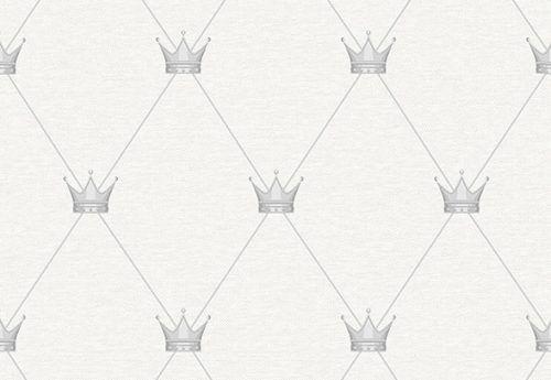 Papel de Parede Coroa Cinza