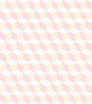 Papel de Parede Brincar Cubo Rosa