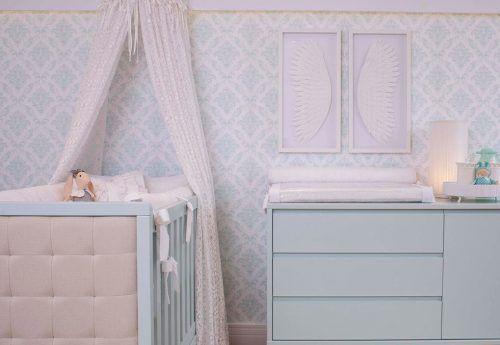 Papel de Parede Damask Infantil Tiffany