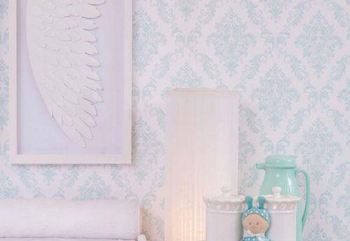 Papel de Parede Renascer Damask Infantil Tiffany