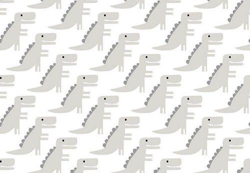 Papel de Parede Renascer Dinossauro Cinza
