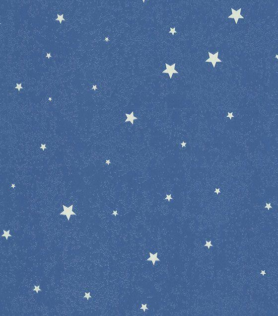 Papel de Parede Algodão Doce Estrelas Azul