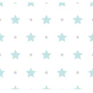 Papel de Parede Estrela Azul e Cinza