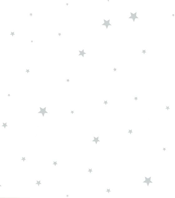Papel de Parede Algodão Doce Estrelas Cinza