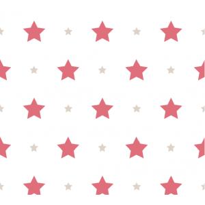 Papel de Parede Estrela Vermelho e Bege