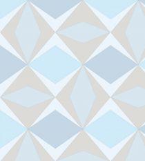 Papel de Parede Geométrico Azul e Marrom